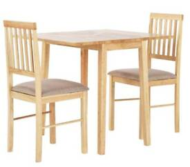 Brand new table and 2 chairs