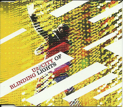 U2 City of Blinding Lights EDIT & All because of you Kilahurtz MIX UK CD Single
