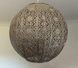 Silver Moroccan Style Lamp Shade