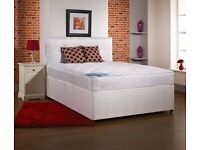 AMAZING OFFER NOW* DOUBLE DIVAN BED BASE WITH SEMI ORTHOPAEDIC MATTRESS