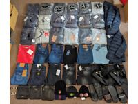 Clearing! Men's Tracksuits Jeans Shoes Belts Bags - Stone Island True Religion Armani Dsquared