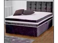 Brand new divan beds with one year warranty .