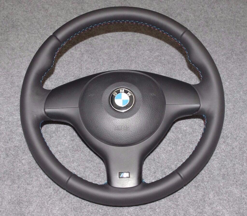 bmw e46 e39 m sport steering wheel retrimmed in selby. Black Bedroom Furniture Sets. Home Design Ideas