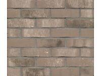 Brick tiles (slips) Antic grey, white , colour NF764 Hand moulding optic