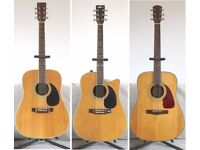 Vintage Collectable Solid Wood Acoustic Guitars.