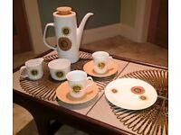 Retro 21 piece Coffee set by J & G Meakin.