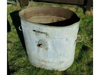 Large vintage metal water carrier
