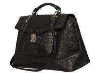 POON Switzerland Black Leather Bag