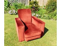 VINTAGE (DECO) UPHOLSTERED ARM CHAIR