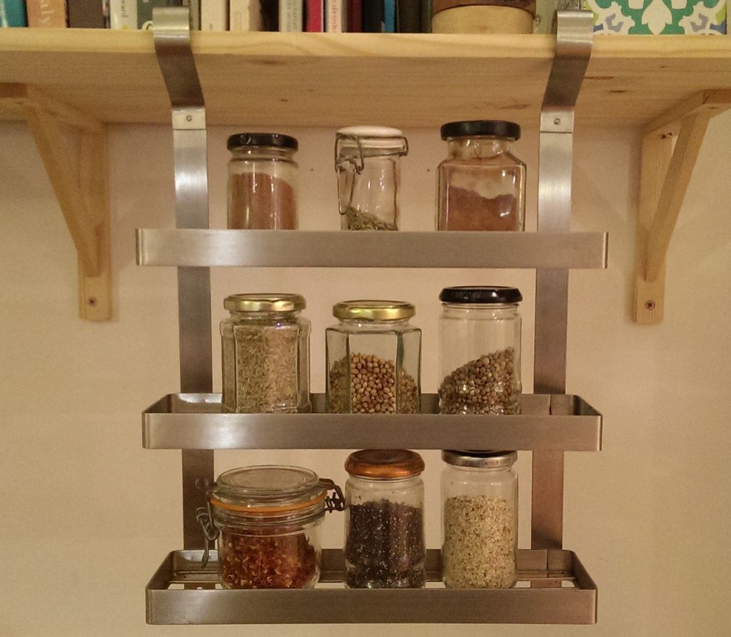 Classic grundtal by ikea stainless steel hanging spice Ikea hanging kitchen storage