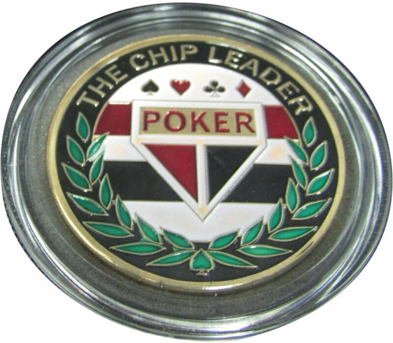 THE CHIP LEADER gold color Poker Card Guard Protector