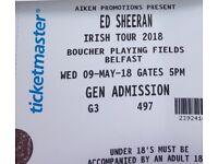 Ed Sheeren Tickets - Belfast - Good Deal