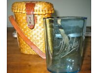 Francophile: Camp in Style, Handmade Drinking Glass + Original Bespoke Travel Basket, 19th Century