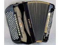 Hohner Goletta V Gola - 5 Row Chromatic C-System - 5 Voice Double Cassotto - 120 Bass Accordion