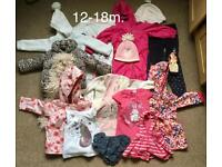 Girl's clothes bundle 12-18m. and 18-24m.