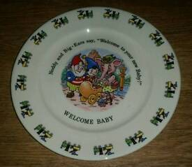 Noddy and Big Ears Welcome Baby Collectors Plate