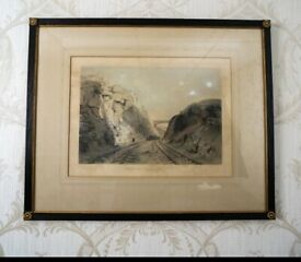 "Berkhanstead Herts"" Engraving by John Cooke Bourne"