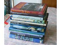 Selection of 13 Art Books Monet Cezanne Turner Renoir Van Gogh Da Vinci