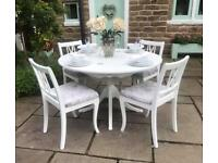 Dining Table & 4 Chairs ~ Oval Round