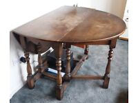 Antique Oval Drop Leaf Dining Table to sit up to 6