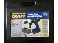 Power Craft Cordless Hammer Drill - Only Selling Due to Father in Law's Passing -NOW £20 TO GO TODAY