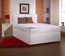 Kingsize Bed with 13inch Memory Foam Dual Orthopaedic Mattress