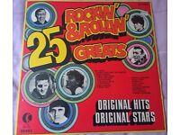25 Rockin' & Rollin' Greats Various Artists Vinyl Album LP (K-Tel)