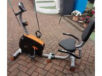 V-Fit Recumbent magnetic exercise cycle. Digital display. 1 elderly owner.