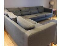 Ikea grey corner sofa 6 seater