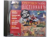 Oxford talking dictionary program on authentic CD for PC