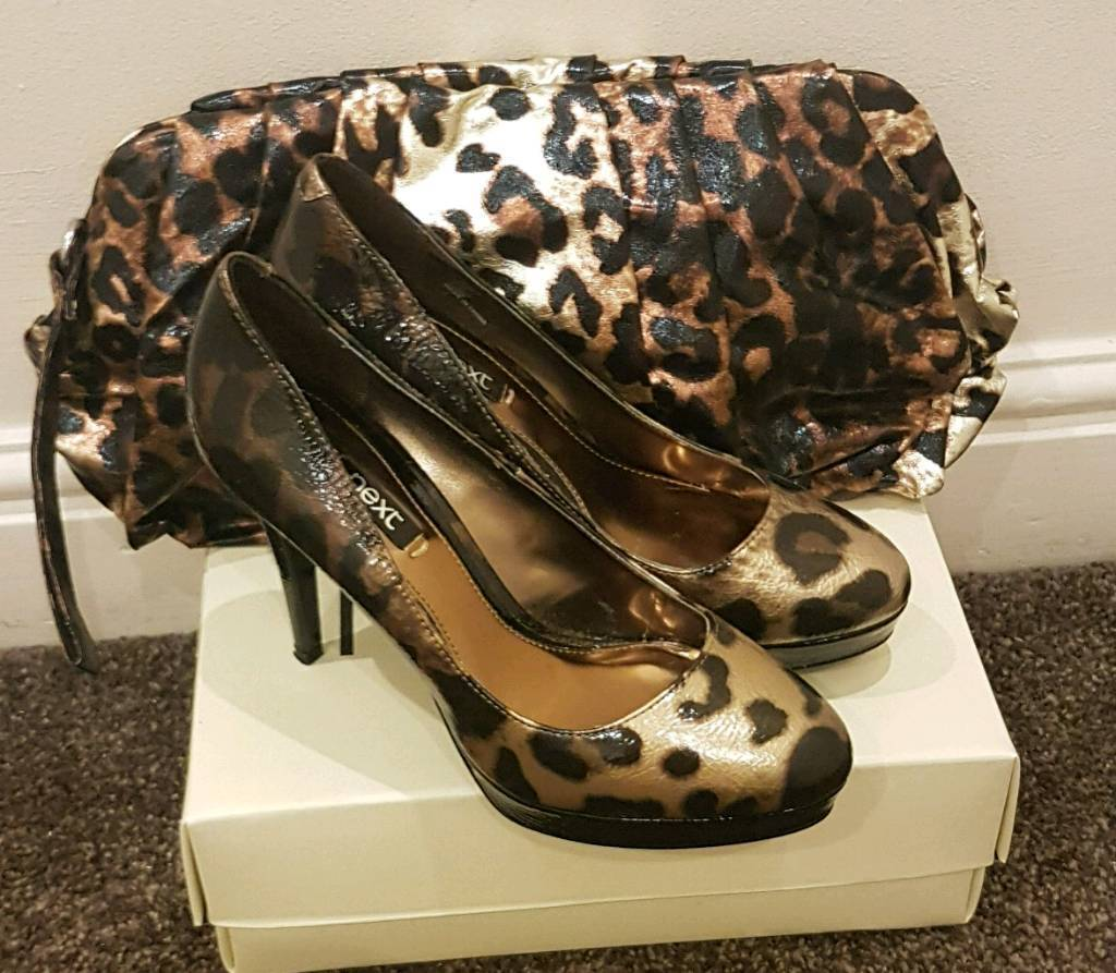 0cd80a2d0c5 Next animal print shoes and clutchbag | in Liverpool, Merseyside ...
