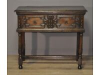 Attractive Small Antique Victorian Oak Dresser Sideboard Side Table