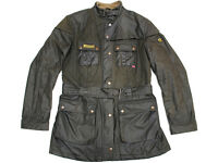 """Belstaff Stylish Wax Quilted Jacket Green Euro 48.. 36/38"""" Chest"""