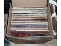 BOX OF 60+ VINYL LPS. ROCK, POP, EASY LISTENING, CLASSICAL. IDEAL BOOTSALE / MARKET STOCK