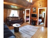 Snowdonia Log Cabin for Holiday Rental - all inclusive Wifi and Sky, Bedding, Towels