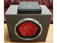 CAR ACTIVE SUBWOOFER SONY XPLOD 1100 WATT 10 INCH BASS BOX WITH ORION AMPLIFIER SUB WOOFER AMP