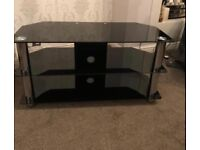 Tv stand brand new black glass