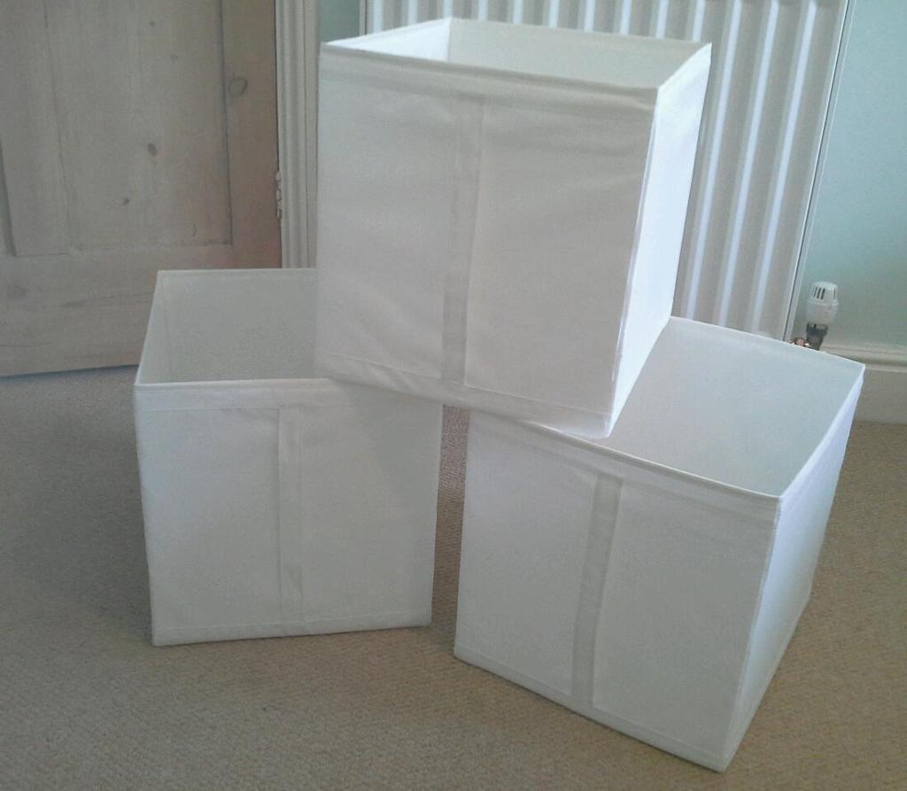3 x Ikea Skubb storage boxes