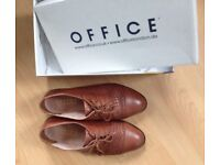 OFFICE brown shoes (UK size 7)