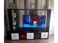 ikea tv unit with storage boxes