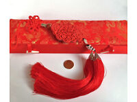 chinese red jade knot decoration