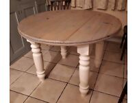 Pine circular kitchen/dining table