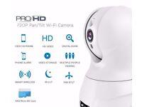 720P HD Pan/Tilt Wifi Security Camera