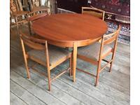 Mid Century Extending Table & Four Chairs