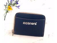 Blue Leather purse wallet. New