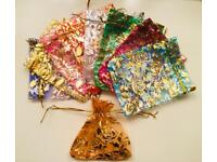 Mix colours 10x Drawstring Pouches/Bags (Gift, Jewellery, Wedding, Party, Candy)