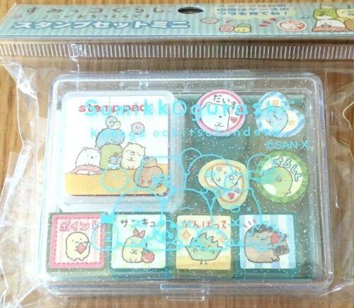 sumikko gurashi 8 Types stamp set Seal Ink color Red KAWAII JAPAN NEW SAN-X