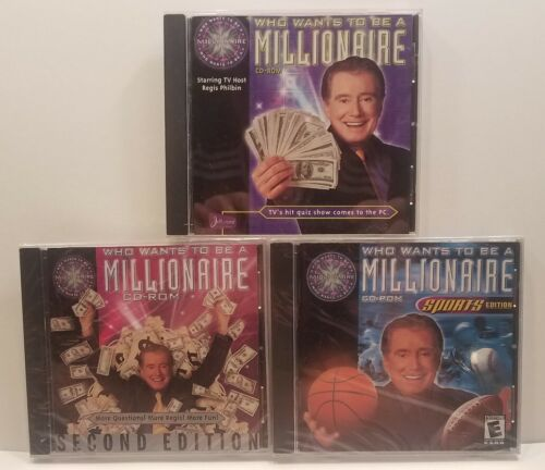 Computer Games - Lot of 3 Computer Games: Who Wants To Be A Millionaire CD-ROM