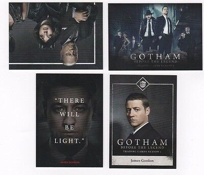 Cryptozoic Gotham Season 1 base set 1-72 + 3 insert sets 100 total