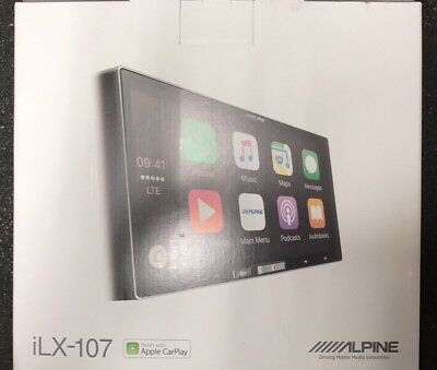ALPINE ILX-107 DIGITAL MEDIA RECEIVER APPLE CARPLAY USB AUX iHEART SPOTIFY NEW